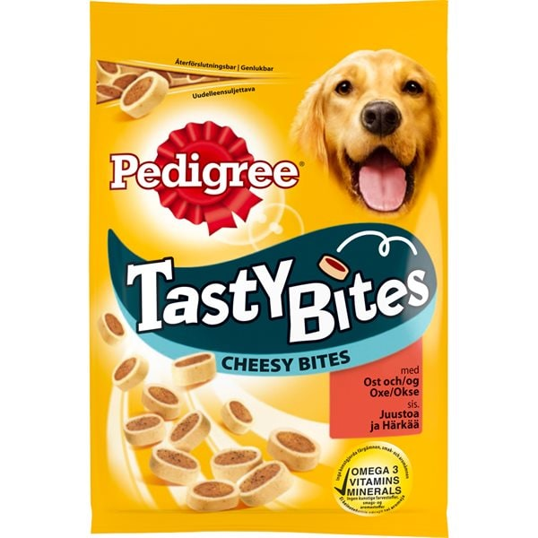 Hundgodis  Tasty Bites Cheesy Bites Pedigree