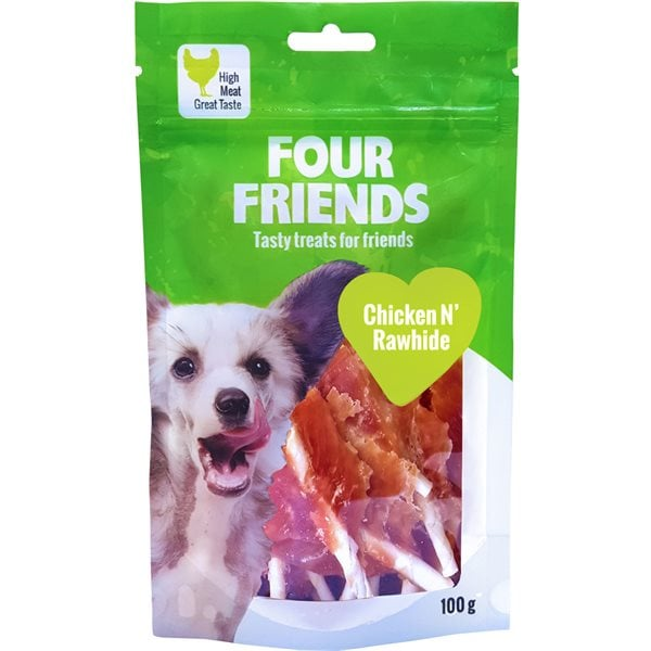 Hundgodis  Chicken N´Rawhide 100 g FourFriends