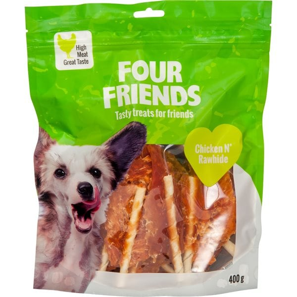 Hundgodis  Chicken N´Rawhide 400 g FourFriends