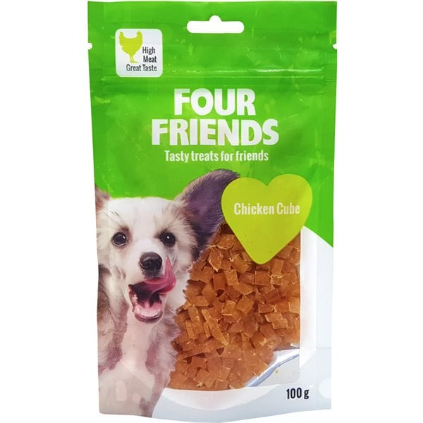 Hundgodis  Chicken Cube 100 g FourFriends