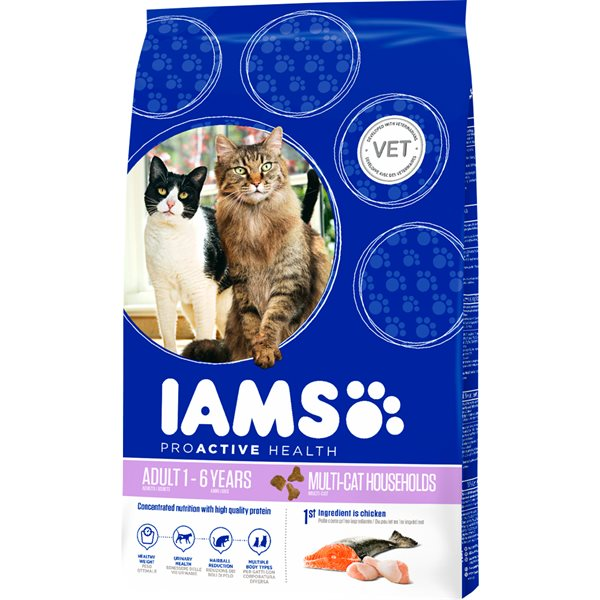 Torrfoder Katt  Adult Multi Cat 15 kg Iams