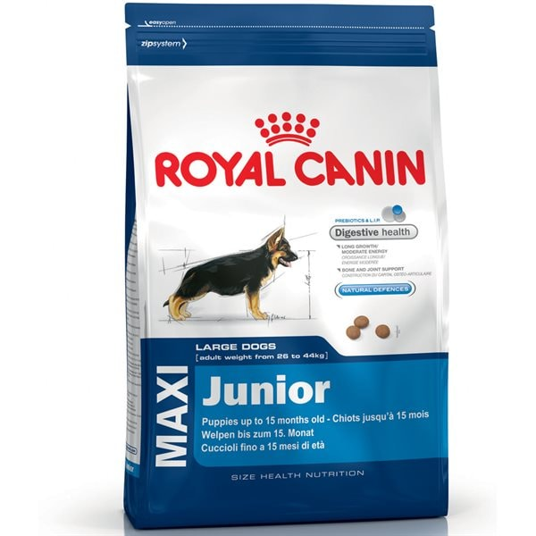 Torrfoder Hund  Maxi Junior 15 kg Royal Canin