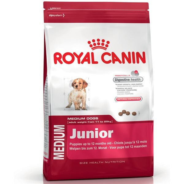 Torrfoder Hund  Medium Junior 15 kg Royal Canin