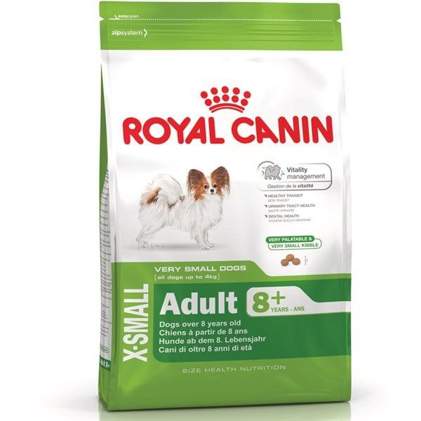 Torrfoder Hund  X-Small Adult 8+ 3kg Royal Canin