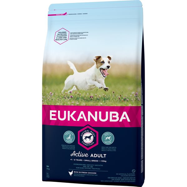 Torrfoder Hund  Adult Small Breed 3 kg Eukanuba