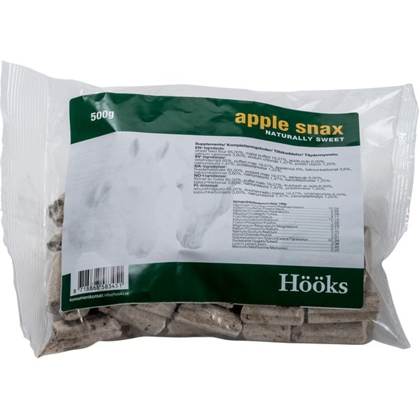 Hästgodis  Apple snax natural 500 g Hööks