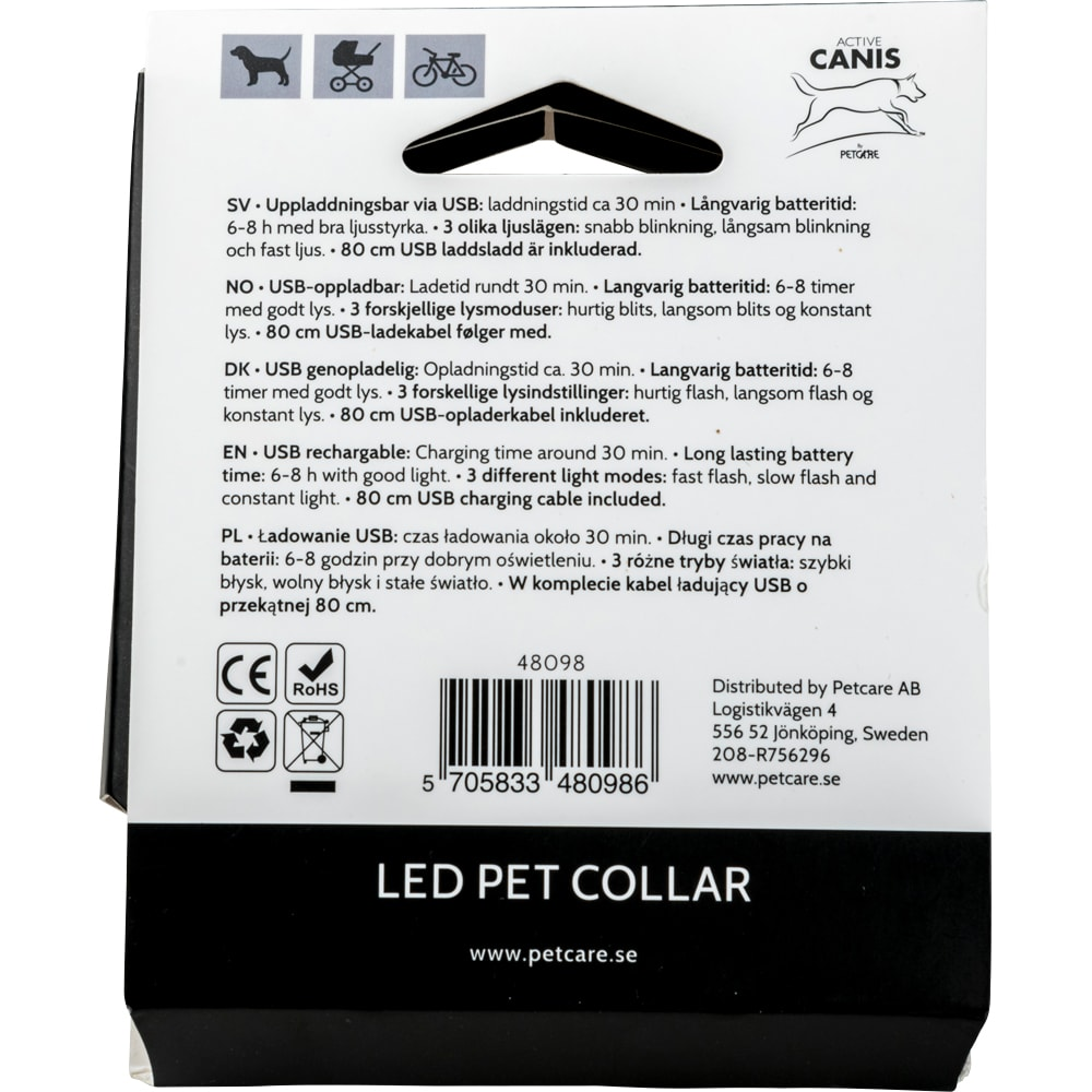 Halsband  LED Pet Collar Active Canis