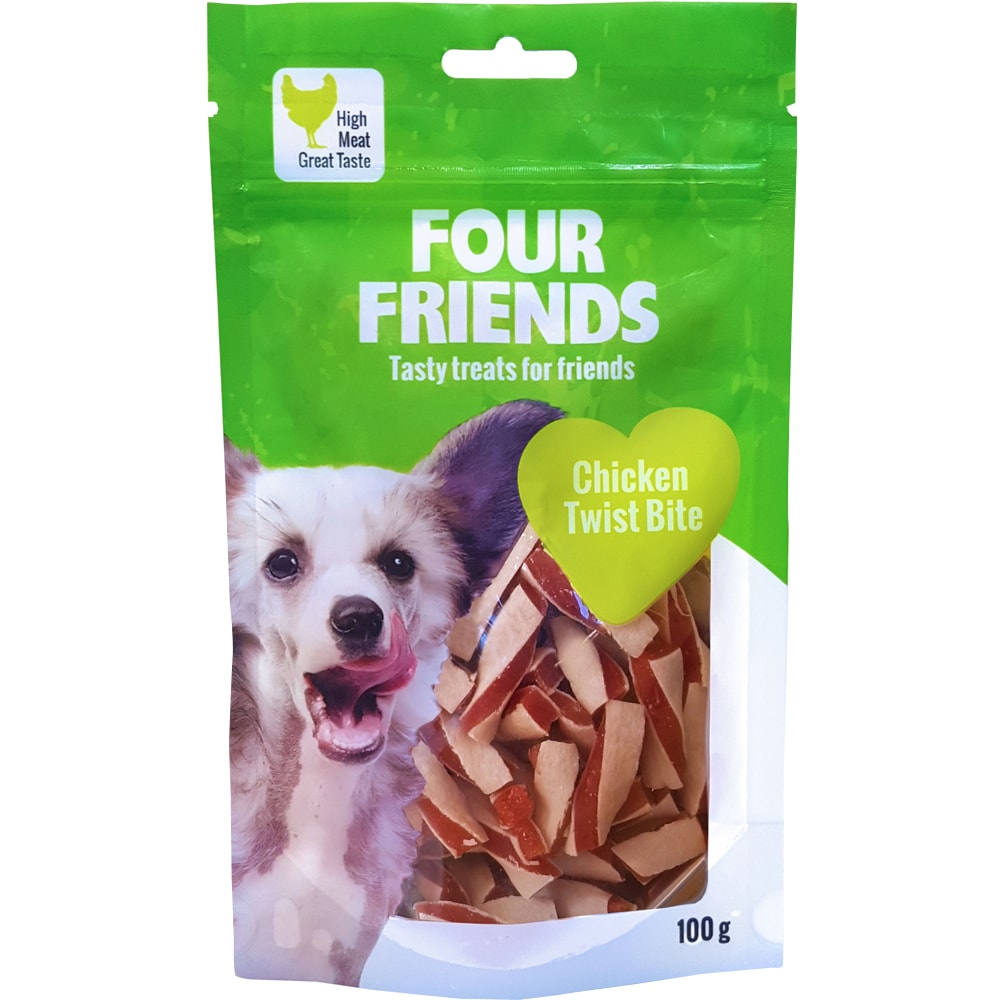Hundgodis  Chicken Twist Bite 100 g FourFriends