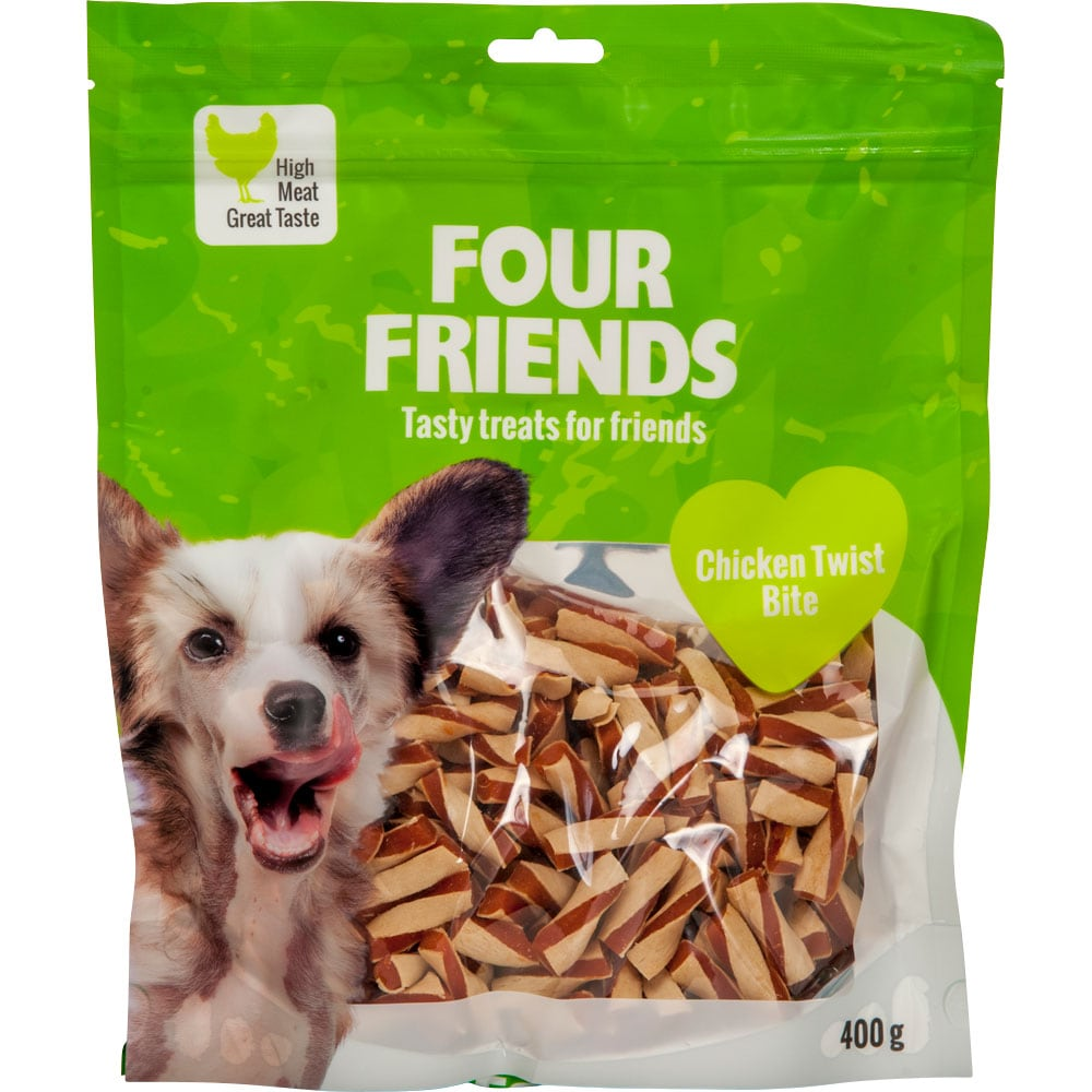 Hundgodis  Chicken Twist Bite 400 g FourFriends
