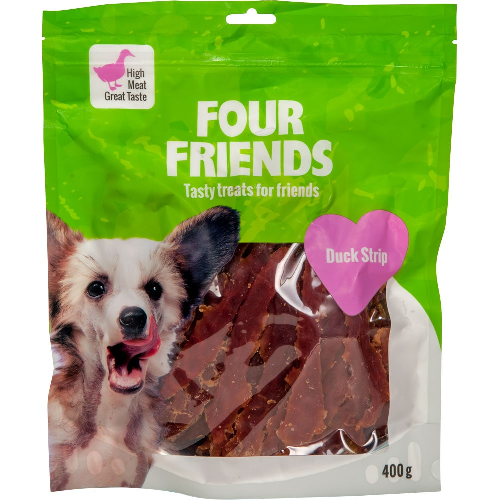 Hundgodis  Duck Stripe 400 g FourFriends