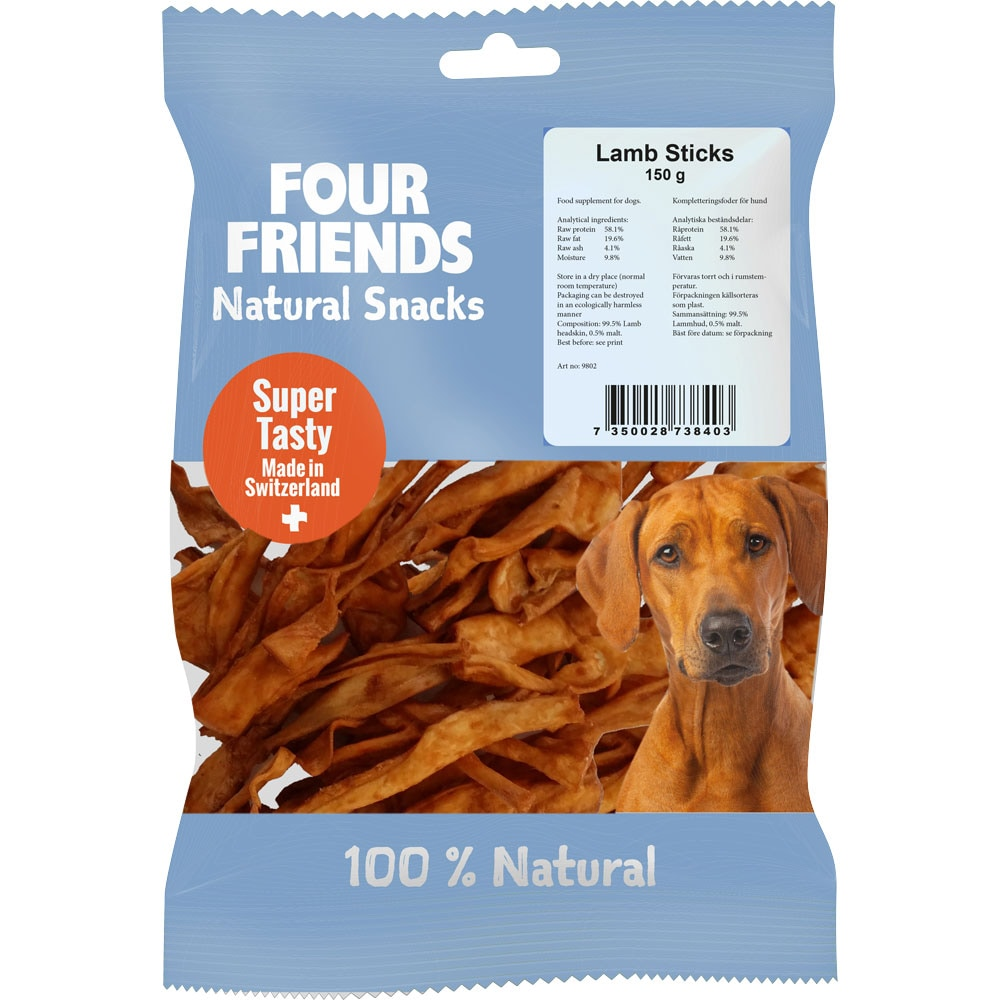 Naturtugg  Lamb Sticks 150 g FourFriends