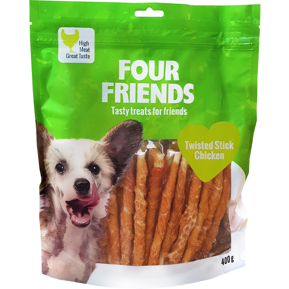 Hundtugg  Twisted Stick Chicken 400 g FourFriends