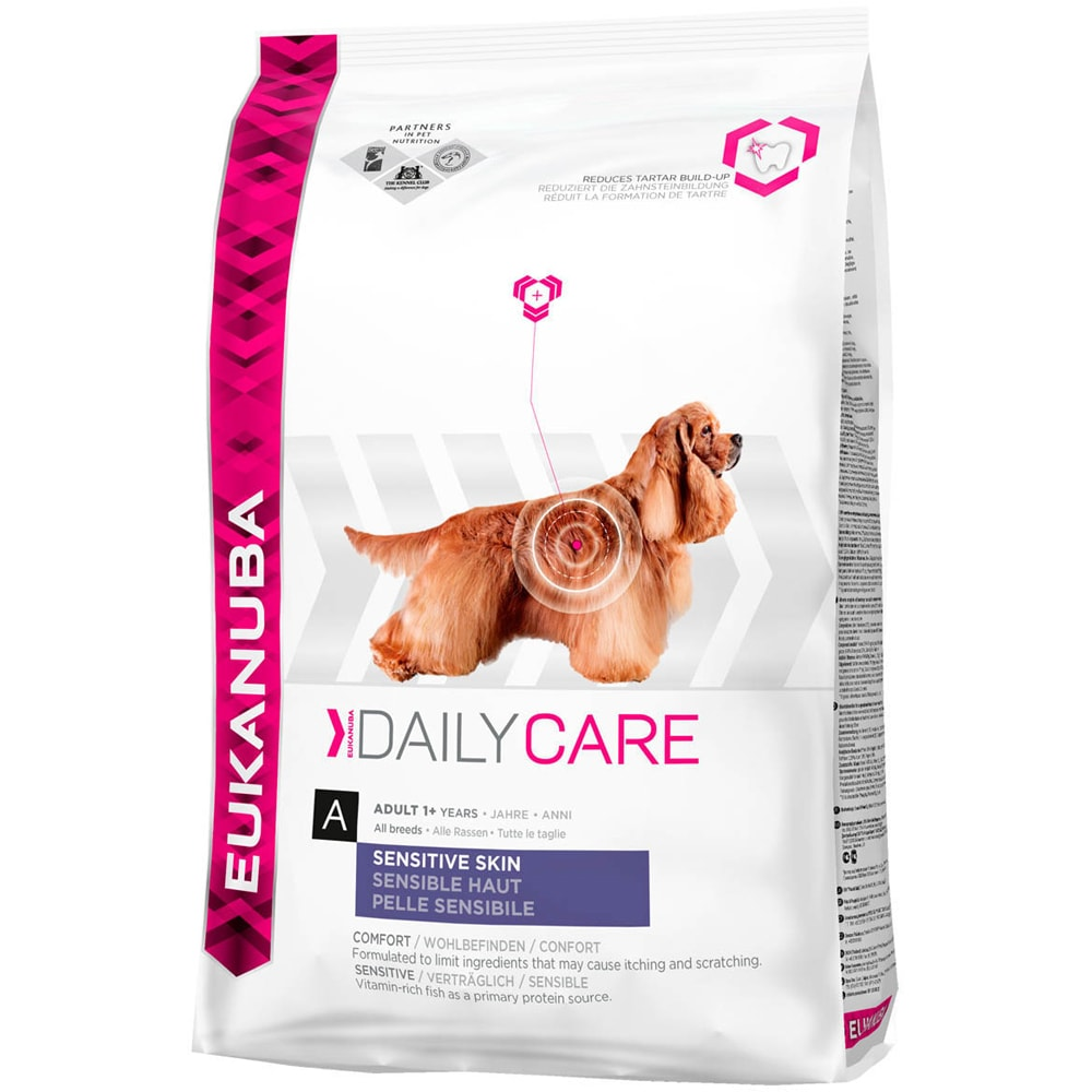 Torrfoder Hund  Sensetive Skin 12 kg Eukanuba