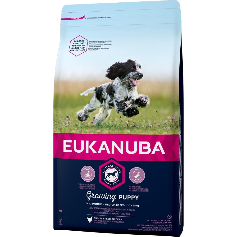 Torrfoder Hund  Puppy Medium Breed 3 kg Eukanuba