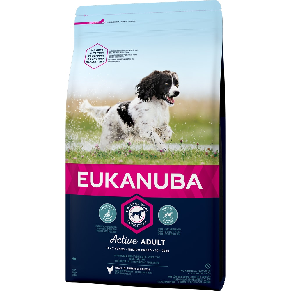Torrfoder Hund  Adult Medium Breed 15 kg Eukanuba
