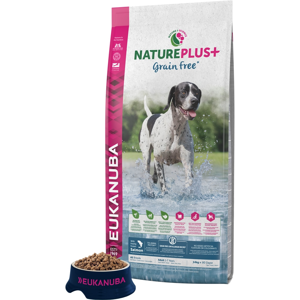 Torrfoder Hund  Nature + Grain Free 14 kg Eukanuba