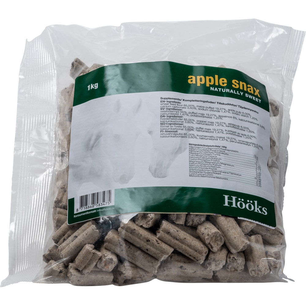 Hästgodis  Apple snax natural 1 kg Hööks