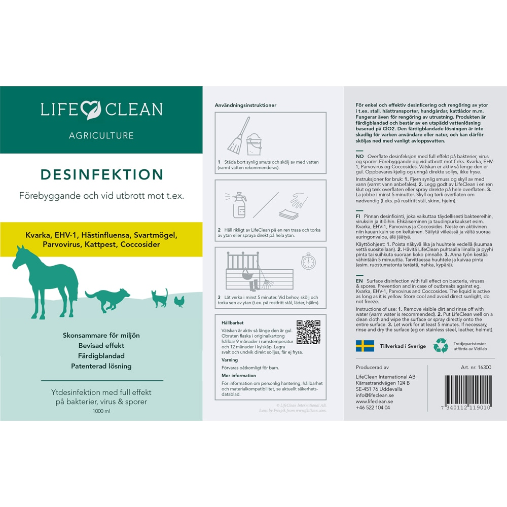 Desinfektionsmedel   LifeClean