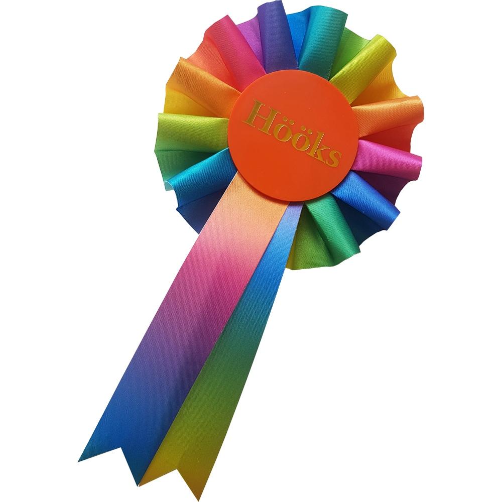 Prisrosett Käpphäst Rainbow